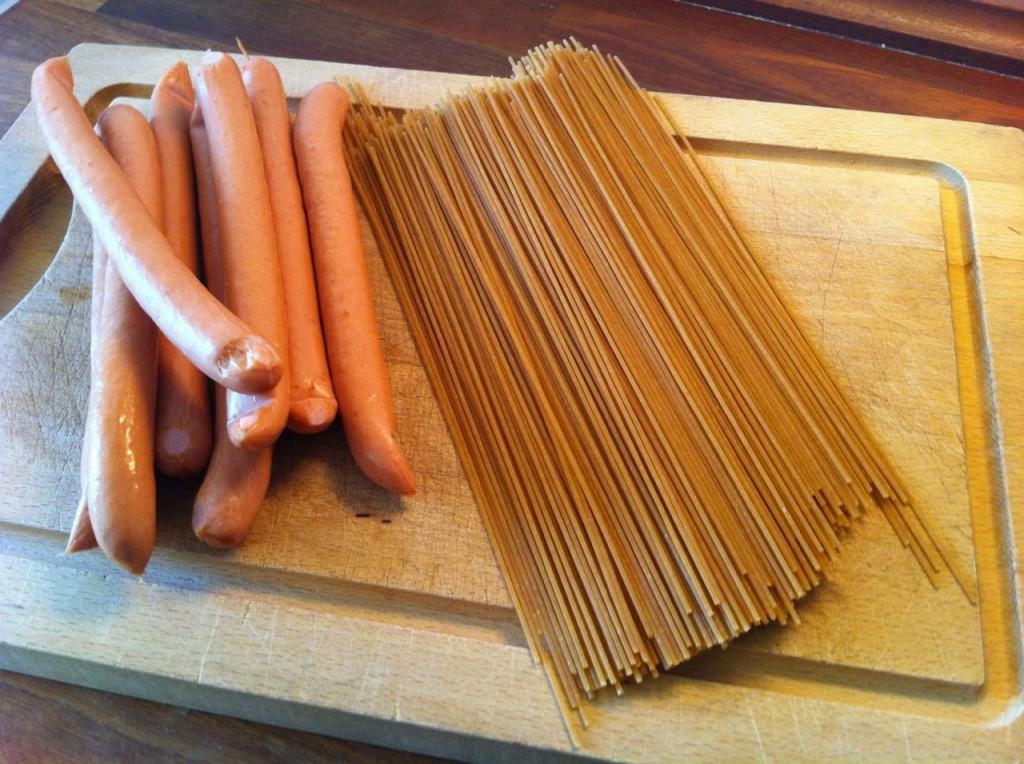 Spaghettipølser